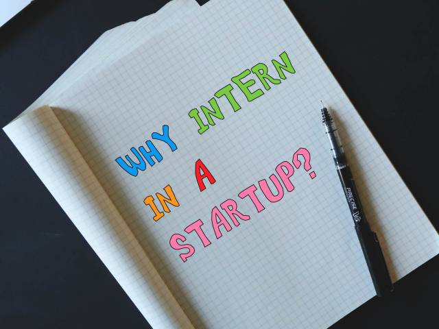 Why intern at a startup?
